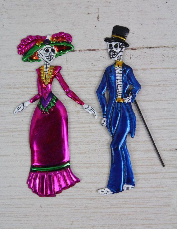 La Catrina handgefertigte mexikanische Zinn von RanchoAlpino