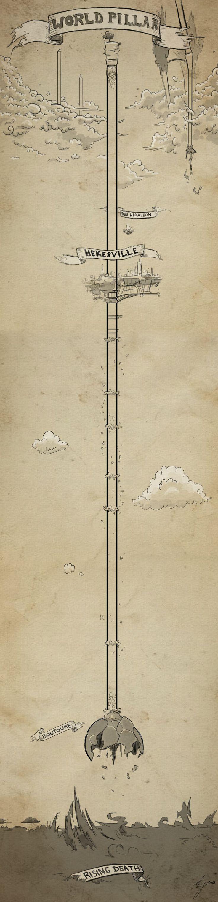 Gravity Rush World Pillar Map by Morganicism