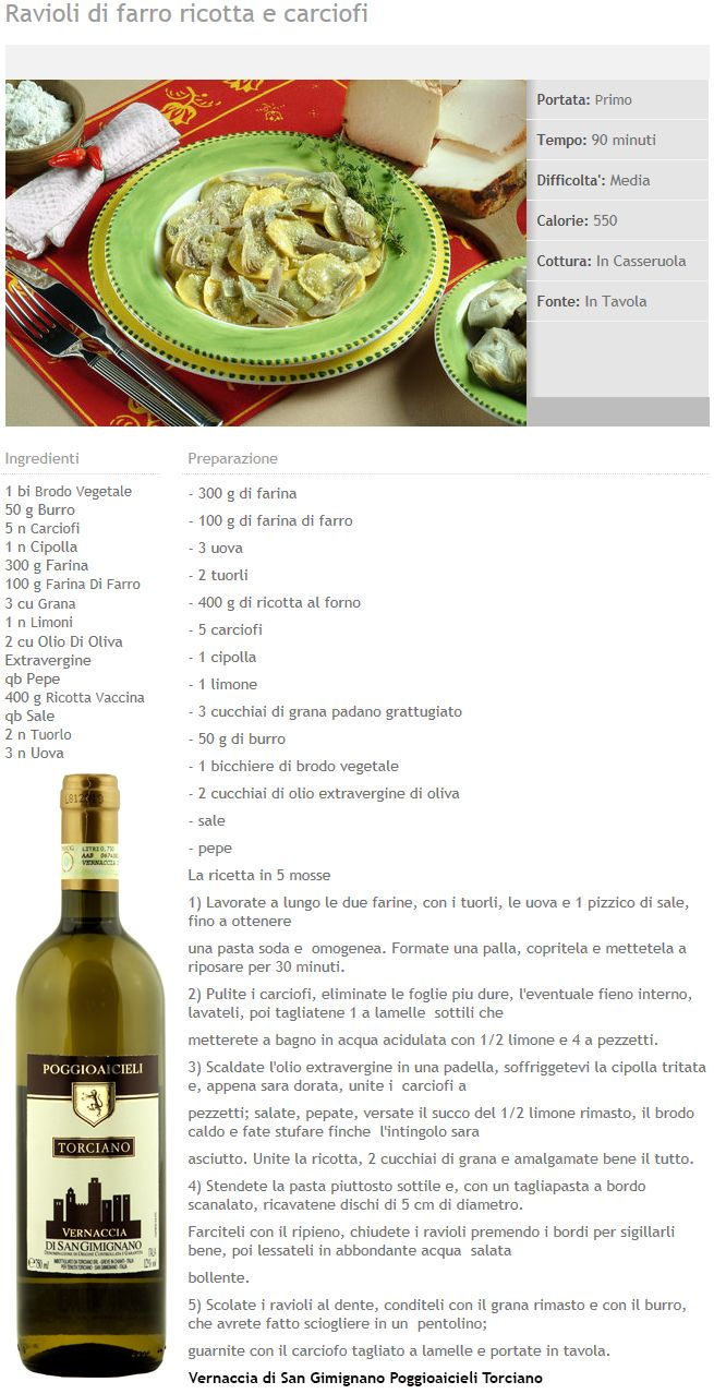 "Thanks to the Italian newspaper ""Donna Moderna"" that made this tasty recipe and paired it with our Vernaccia di San Gimignano Poggioaicieli.  #poggioaicieli #vernacciasangimignano #sangimignano #whitewine #winery #Italy"