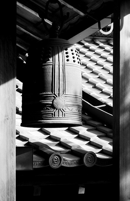 Ryoan-ji Temple, Kyoto, Japan  - #BlackandWhite