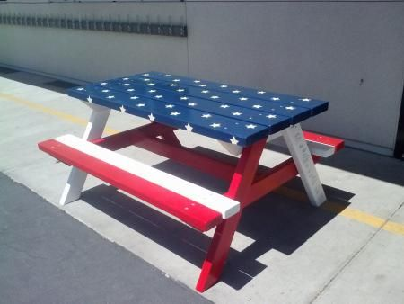 Patriotic Picnic Table for Kids | Do It Yourself Home Projects from Ana White