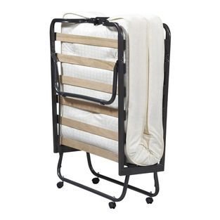 Linon - Linon Luxor Folding Bed With Memory Foam Mattress - Linon - Beds - 352STD01ASUPS - Sturdy metal tube frame with durable wood slat su...