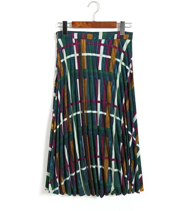 Aliexpress.com: Comprar Otoño Invierno Nuevo Color de La Raya Falda Plisada de Tela de Pana Cálida Largo Faldas Para Mujer de La Vendimia 2016 de vendimia de tela japonesa fiable proveedores en Sun-Flowers
