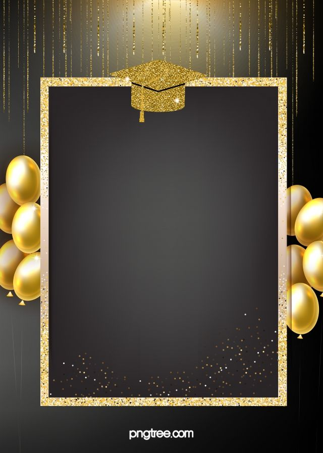Golden Texture Background Of Graduation Hat Convite Formatura