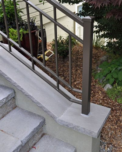 95 best outdoor steps concrete images on pinterest - Metal railings for stairs exterior ...