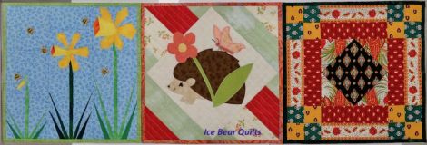 """Spring quilts in the 12 times 12"""" by 12"""" series"""