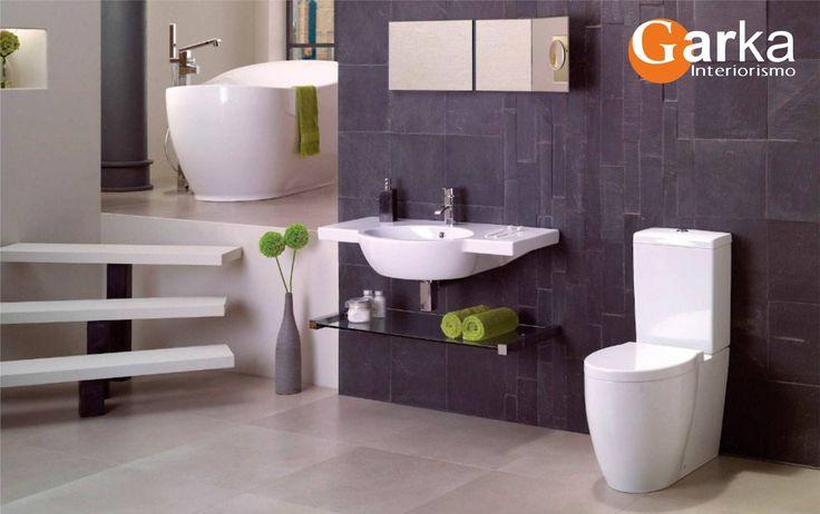 Nos ha encantado la doble altura en este baño! Simplemente…decoraciones que enamoran! ❤ ❤ #DecoracionBaños #Home #Design #Interiorismo