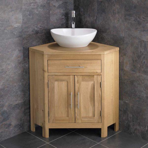 Large Corner Cabinet Large Oval Bathroom Basin Double Door Oak Corner Cabinet Unit Altal Largeco Corner Bathroom Vanity Bathroom Vanity Oak Vanity Unit