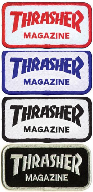 Thrasher Magazine- Logo embroidered patch