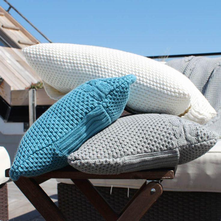 Honeycomb Throw Pillow - Organic Cotton Kapok.
