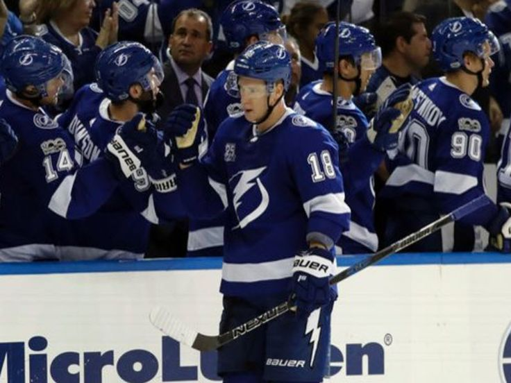 Steven Stamkos was back on the ice with the Lightning in a regular season game as they defeated the Florida Panthers 5-3 on opening night.