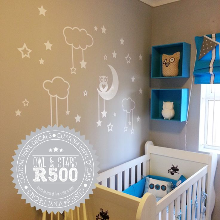 Baby Room vinyl stickers, such an easy way to decorate the room. #babyroom #kids #baby #decor #kidsroom