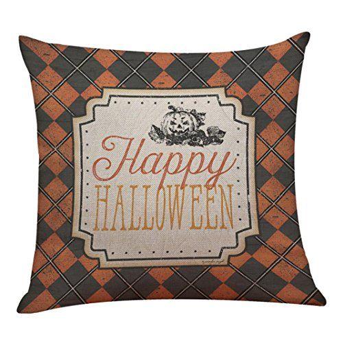 Challyhope Vintage Classic Pillow Box Linen Sofa Funny Halloween Print Pad Cushions Sofa Back Seat Home Decoration (18x1 @ niftywarehouse.com #NiftyWarehouse #Halloween #Scary #Fun #Ideas