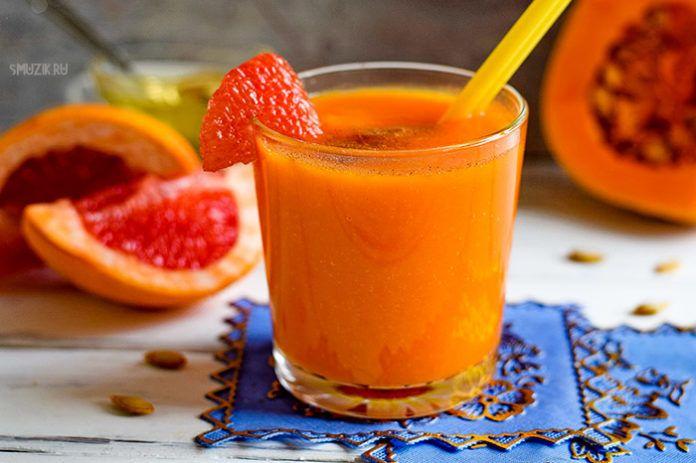 Смузи из сырой тыквы и грейпфрута
