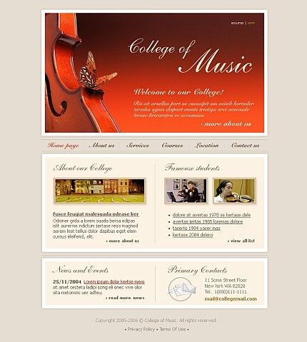 Education College Flash Templates by Delta