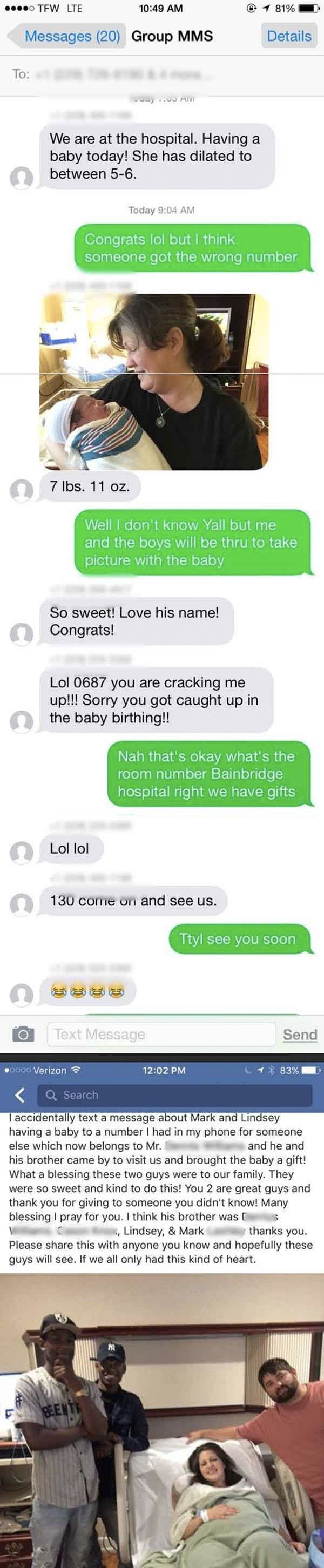 And wrong numbers showed us that strangers can become family in the blink of an eye: | 33 Pictures That Prove 2016 Wasn't A Completely Terrible Year
