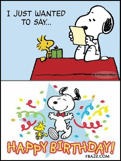happy birthday peanuts snoopy woodstock birthday greeting status for fb wall (400×532)