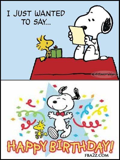 happy birthday peanuts snoopy woodstock birthday greeting status for fb wall (400×532)