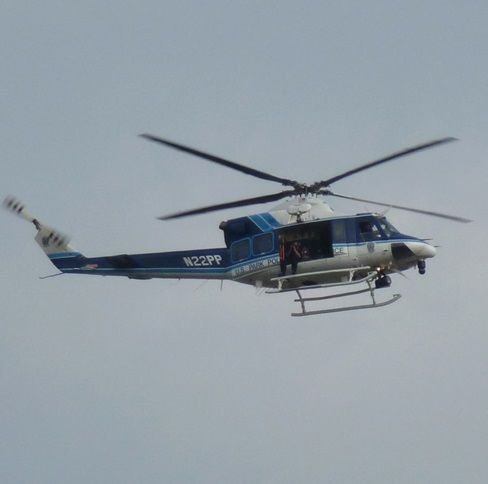 Helicóptero de la Policia en Washington, USA.