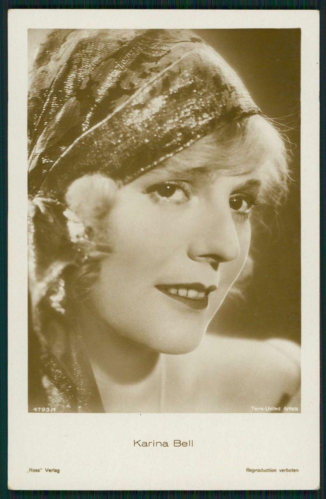 Karina Bell Movie Star Cinema original old from c1920-1950s photo postcard