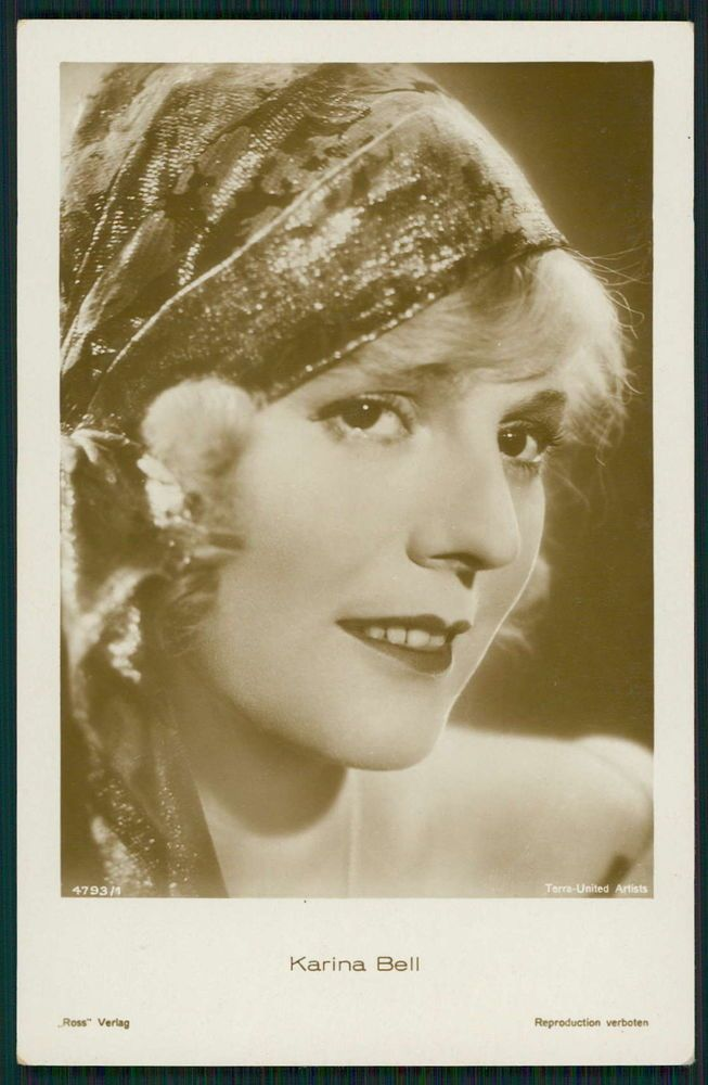 Karina Bell Movie Star Cinema original old from c1920-1950s photo postcard