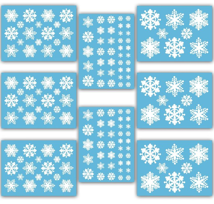 17 Best Images About Clings On Pinterest Snowflakes