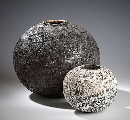 Stephanie Black. I like these sculptures due to their rough and scrawled surface. This reminds me of the artist I reaserched, Anselm Kiefer. I also like their simple round organic shape