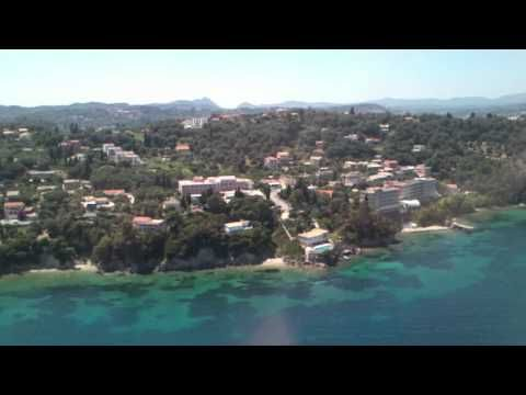 Landing on Corfu Island Greece