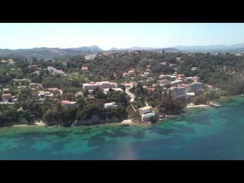 Landing on Corfu Island Greece