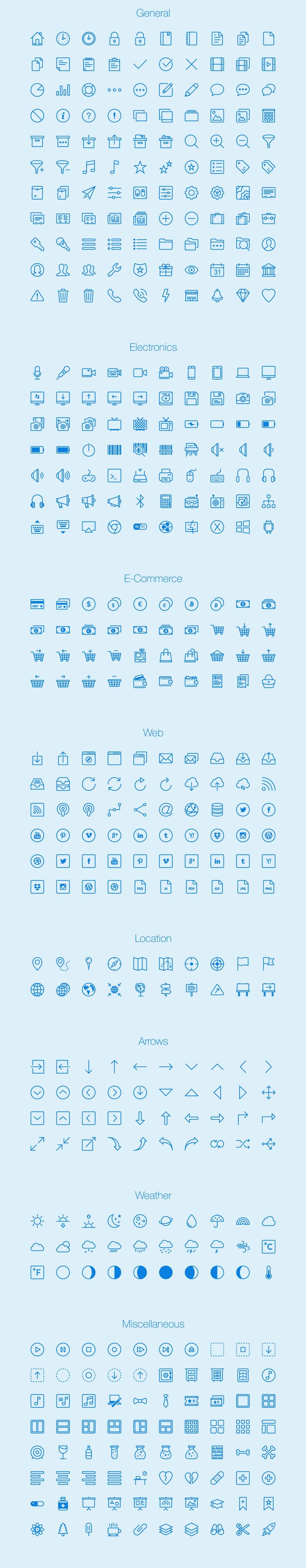 Free download: 450 outline icons | Webdesigner Depot