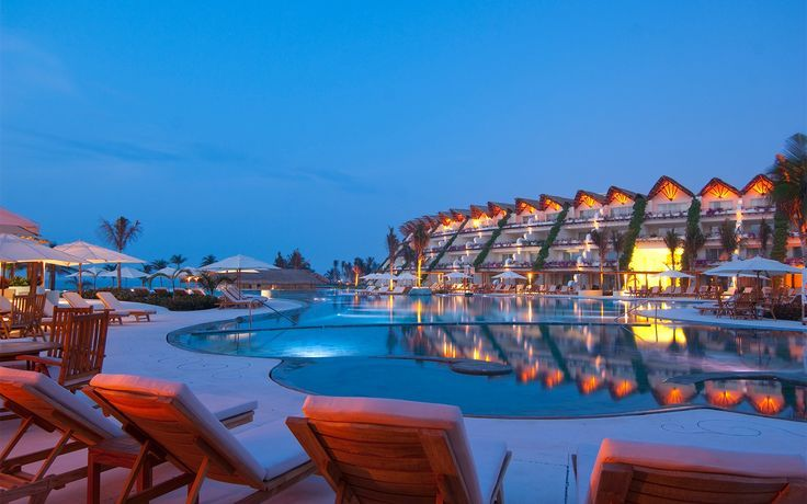 All-Inclusive Caribbean Resorts for Group Getaways: Grand Velas Riviera Maya in Playa del Carmen, Mexico embodies the best of all Caribbean resort worlds, with well-appointed spaces that are polished by not over-the-top, and with a family-friendly vibe that's paired with a food dose of nightlife.