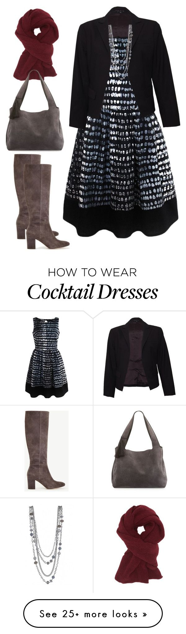"""Sapelle Batik Monochrome Dress - Smart"" by sapellestyle on Polyvore featuring Ann Taylor, Theory, Charlotte Russe, The Row and Ethical"