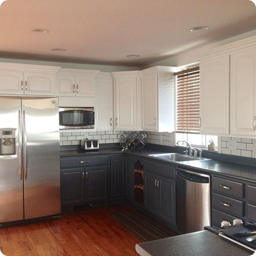 Two Tone Kitchen Cabinets: Love The Two Tone Cabinets
