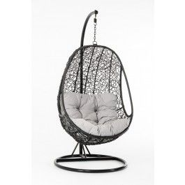 Outdoor Hanging Chair - feels like you are in a pod or craddle. Comfy and relaxing.