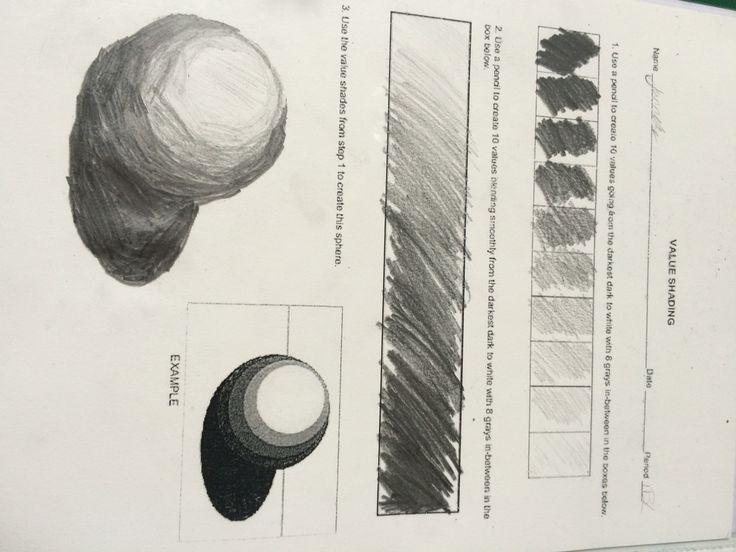 verschillende tinten grijs tekening