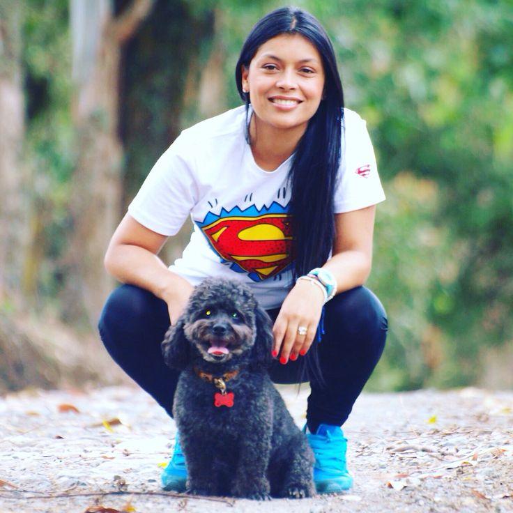 Súper mamá con el súper dog!! True LOVE ❤️