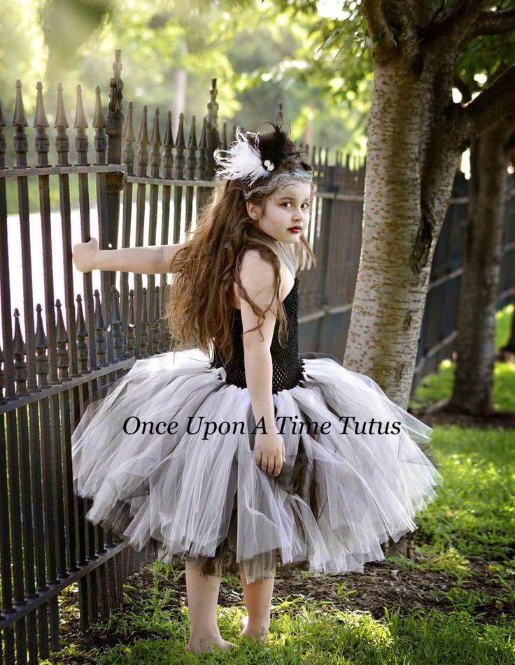bride of frankenstein tutu dress halloween costume little girls size 6 12 months 2t - 4t Halloween Costumes Girls