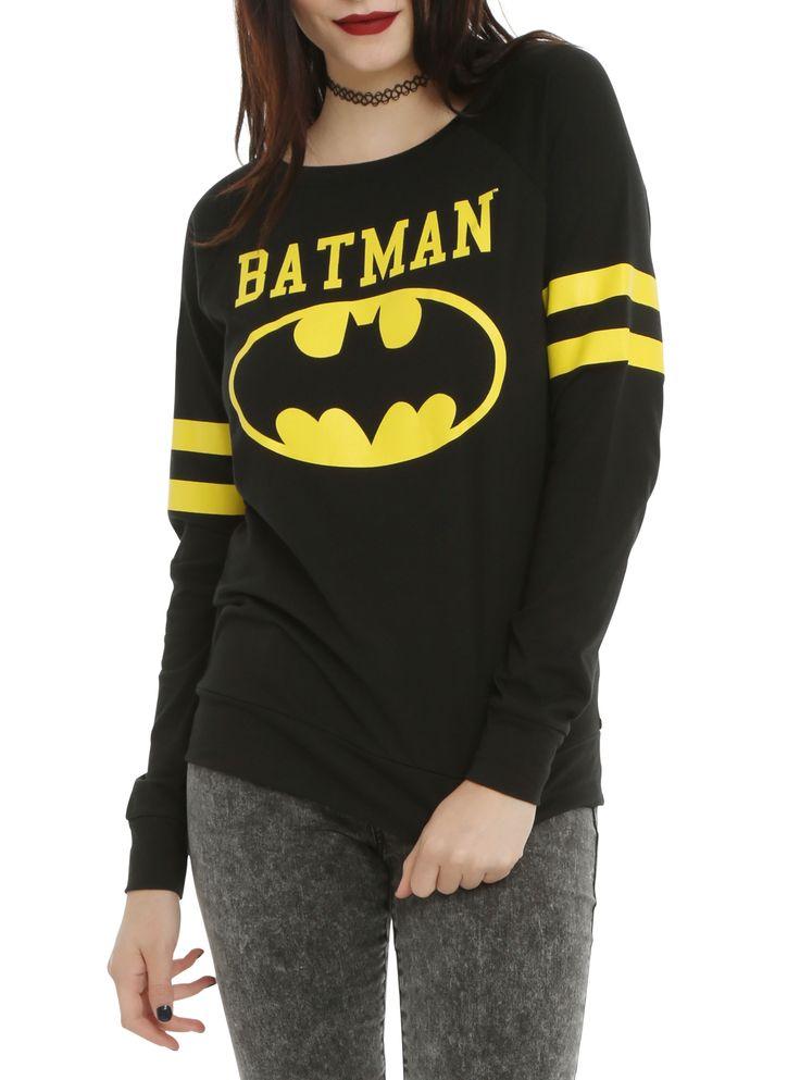 DC Comics Batman Varsity Girls Pullover Top