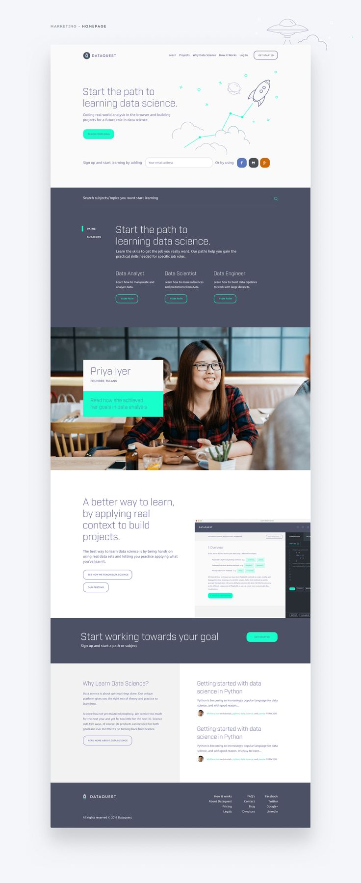 DataQuest - Data Science Learning Platform on Behance