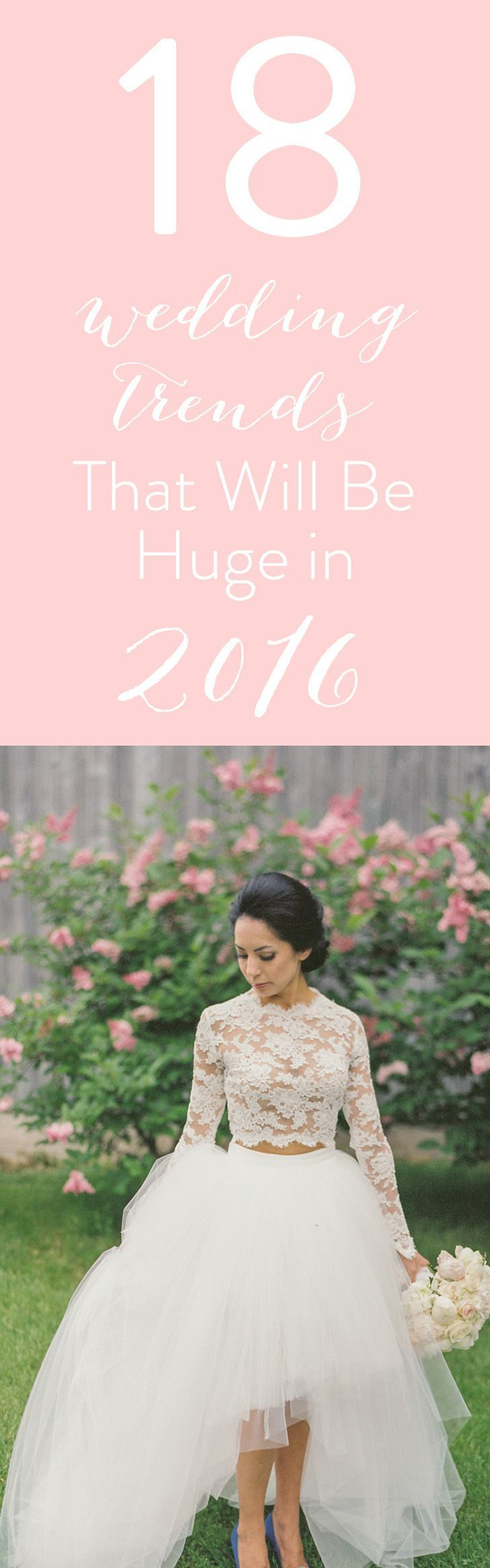 Wedding trends for 2016 http://www.stylemepretty.com/2016/01/01/wedding-trend-predictions-2016