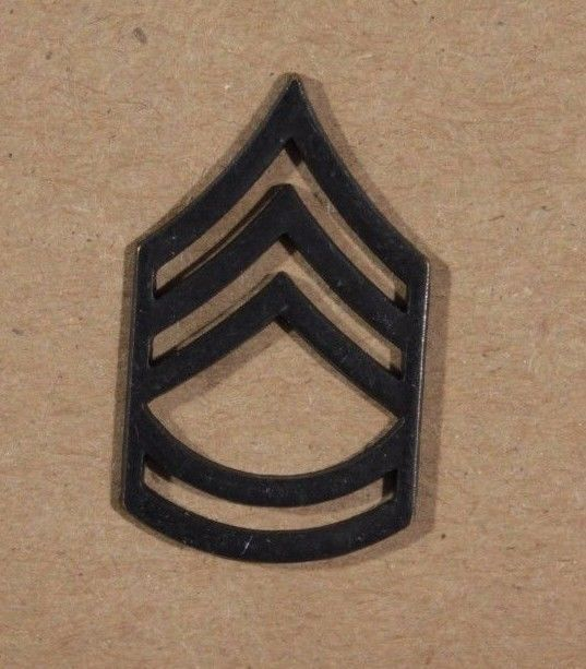 1 US Army Rank Insignia Pin Sergeant First Class E7 Subdued Metal