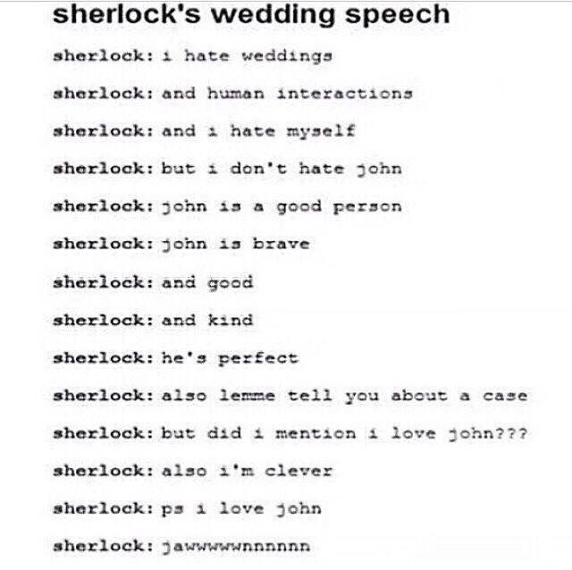 Sherlocks Wedding Speech See How To Create Perfect Wedding