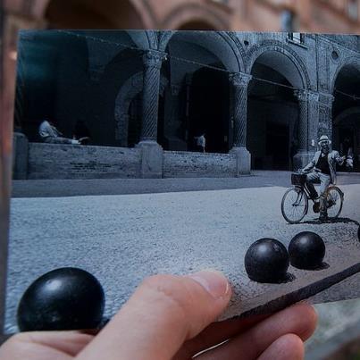 """Mattinata ancora grigia e piovosa sulla città e allora vi diamo il buongiorno mandandovi """"virtualmente"""" questa magica cartolina da Bologna :-)  foto di Alessandro Morana via Flickr http://flic.kr/p/dZBWyE"""