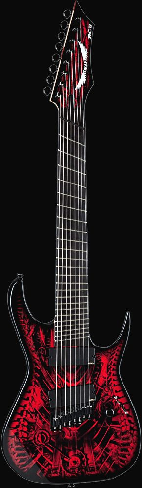 DEAN - USA RUSTY COOLEY SIGNATURE RC8 XENOCIDE FANNED FRET