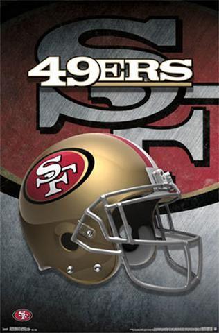 San Francisco 49ers Official NFL Football Team Theme Helmet Logo Poster - Trends International