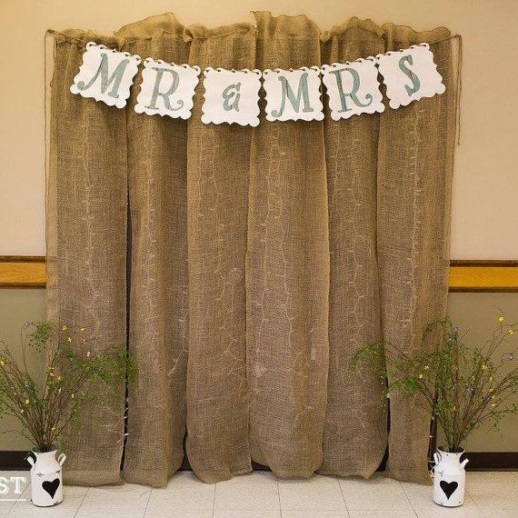 Burlap Backdrop by MariabellaGrace on Etsy