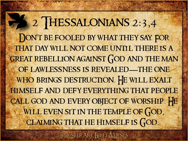 2 Thessalonians 2:3-4 (New Living Translation) | The Word ...