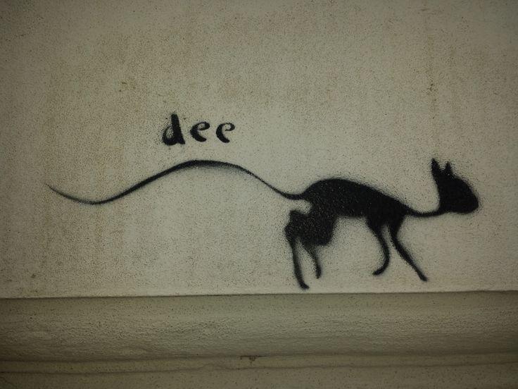 Street art: Kočka Dee, Praha 5