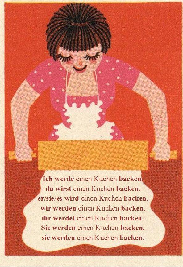 """Future Tense in German. (""""Und jetzt habe ich Appetit auf Kuchen!) ☋"""