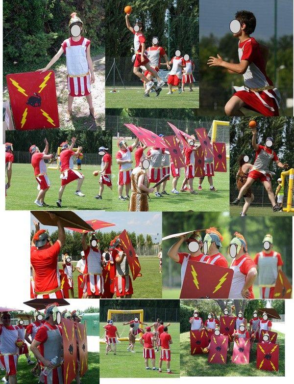 déguisements gladiateurs pour joueurs de Handball... tuto sur www.easycouture.centerblog.net